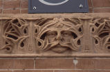 Burlington Hotel, close up detail entrance