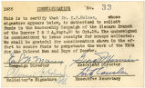 YMCA Identification Card, No. 33