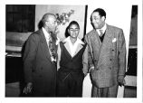 Dr. Clarence Holmes and William Holmes with Duke Ellington
