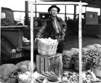 John A. Boyd displaying produce at Denargo City Market
