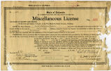 State of Colorado, Miscellaneous License No. 255.