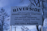Riverside Cemetery sign