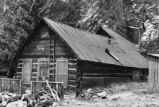 Abandoned log cabin, Creede