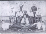 Pablo C. de Baca with Sacred Heart College baseball team member of grade 8 class (1890-1891).