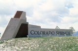 Colorado Springs welcome sign