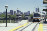 Colfax at Auraria RTD light rail station W. Colfax, looking northeast.