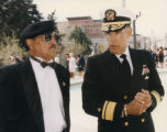 Rear Admiral Henry F. Herrera and unidentified Hispanic Vietnam veteran.