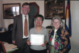 Magdalena Arellano Aguayo shown on the occasion of her retirement as a Physicians Assistant in...