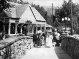 Entrance and pavillion [sic] at the original Manitou Soda Springs at Manitou