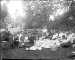 Large family group having a picnic in City Park