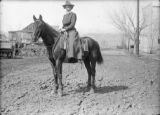 Woman on horseback
