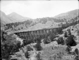 Colo. Midland RR Dolomite trestle (no train)