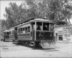 Denver Tramway cars no. 74 and no. 63