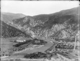 General view of Glenwood Springs looking east