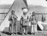 Buckskin Charlie and two Indian women