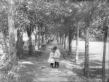 Small boy & girl in park