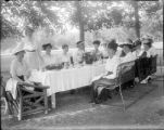 Recreation - picnic - formal - group of women