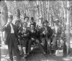 Recreation - fishing - group of men with gear and beer