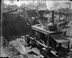 Industries construction equipment McCabe & Steen steam shovel at work