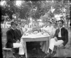 "Recreation - picnic - group of people wearing hats saying ""WOW 633"""