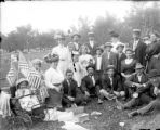 Recreation - picnic - group in park - probably July 4th