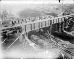 Laying track on the Alameda RR bridge