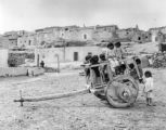 Pueblo Laguna, old cart