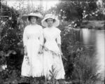 Two women near Lillybridge's studio