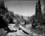 On the Roaring Forks River Colo. Midland Ry.