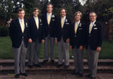 Benjy, Charles, Lester, Jamie, Peter, Ben on Lester's wedding day