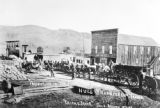 Freighting in the Rocky Mountains, Hull Transfer Co.'s teams, Cripple Creek, Colo.