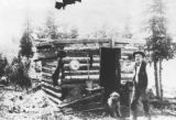 Old Man Topping and the first log cabin in Cripple Creek