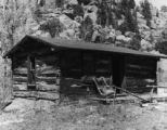 A cabin at Turret, Colo., the farthest east up the gulch from town