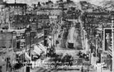 Old time view of Bennett Ave. in 1903 showing trolley car, Cripple Creek, Colo.
