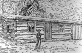 The dwelling of Chas. F. Nelson who was contemporary of N. C. Creede in discovering rich silver on...