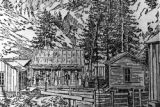 The dwelling of N. C. Creede who discovered the rich silver - ore near the locality that became...