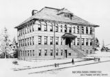 High school building Durango Colo. John J. Huddart, Architect, Denver
