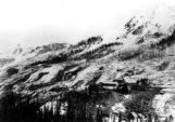 Birds-eye view of Yankee Girl mine in winter- Red Mountain, Colo.