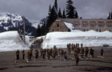 87th Mountain Infantry Regiment re-enforced, Company C preparing to support the Mount Rainier Test...