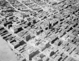 Early aerial view of downtown Denver
