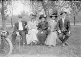 Sunday in the park - Harry's first wife, Julia Knapp Rhoads, 2nd from right