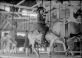 Harry's first wife, Julia Knapp, on merry-go-round at Elitches