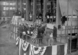 Laying of cornerstone at City and County Building by members of the Masonic Order