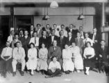 Probably Harry's father-in-law's office, Leonard K. Knapp, second from left on second row