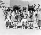 Santa Clara, Buffalo Dance, 2nd from right end Cleto Tafoya(?) end man at right end governor, the...