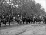 Ute flower carnival group on horseback