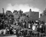 Relay race, passing a goal, Pueblo of Taos, N.M.
