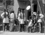 San Juan Indians at cliff dwellings in Manitou, Colo.