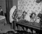 Three Jewish men / religious activity