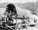 Covered wagon - Days of '76 - annual historic show first week in August in Deadwood - the Black...